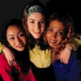 Three young women, multicultural